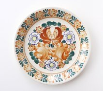 wl095 ポーランドのヴウォツワヴェク陶器 ヴィンテージ陶器 平皿24cm 飾り皿