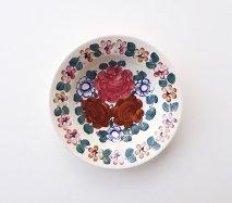 wl118 ポーランドのヴウォツワヴェク陶器 ヴィンテージ陶器 小皿15cm 飾り皿