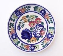 wl119 ポーランドのヴウォツワヴェク陶器 ヴィンテージ陶器 大皿31cm 飾り皿