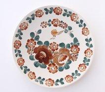wl120 ポーランドのヴウォツワヴェク陶器 ヴィンテージ陶器 大皿31cm 飾り皿