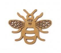 co082 リトアニア木製コースター小「ミツバチ」