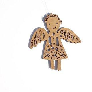 or354,061 リトアニア EtnoDesignエトノデザイン 木製オーナメント  結晶のドレスをきた天使 エンジェル