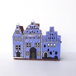ch036 リトアニア キャンドルハウス 三つ並んだ小さなおうち 大きいバージョン