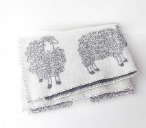 リトアニア ナチュラルウールブランケット 羊毛のベビーブランケット ひざ掛け 毛布