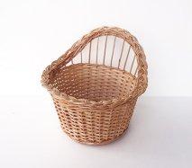 bs028 リトアニアのかご 透かし編みが美しい手編みかご 壁掛けもできる小さなかご