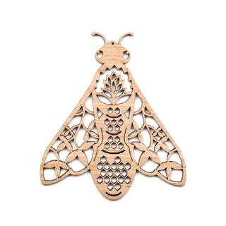 or340 リトアニア EtnoDesignエトノデザイン 木製オーナメント 美しい蜂