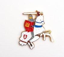 リトアニアのお土産 国章の騎士マグネット ヴィーティス