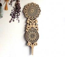 ve030 リトアニア 伝統工芸の壁飾り Verpste ベルプステ 黒ベース 49cm