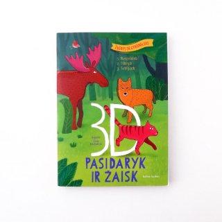 リトアニアの森を作ろう!3D塗り絵ブック カラーブック 立体組み立て絵本