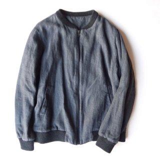 dp001 リネンジャンパー 裏地つきで暖かいボンバージャケット スタジャン