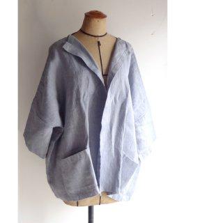 npl002 ラフに羽織れるオープンジャケット ヘリンボーン ヘビーリネン