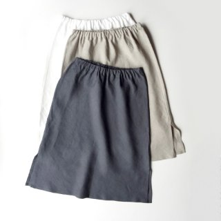リトアニアリネン 麻100%の履き心地抜群ペチコート リネンインナースカート