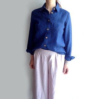npl004 ヘビーリネンのコンパクトシャツ