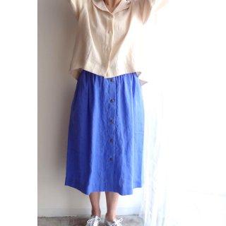 npl006 スナップボタンのミモレ丈スカート