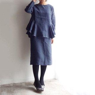 edt011 ペプラムブラウスと合わせてスーツになる、シンプルなタイトスカート