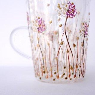 gc005 リトアニア グラスペイントのガラスカップ