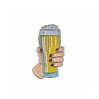 mht019 リトアニア Make Heads Turn おしゃれなピンバッジ ピンズ エナメルピン ビールで乾杯!