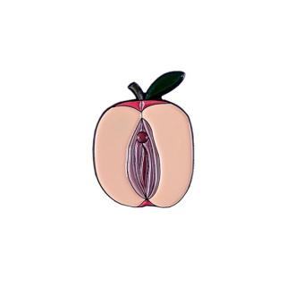 mht021 リトアニア Make Heads Turn おしゃれなピンバッジ ピンズ エナメルピン りんご