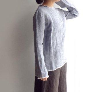 dp014 切りっぱなし加工がポイントのシンプルな丸首シャツ