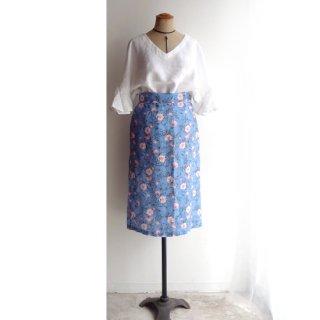 edt023 シンプルなフォルム 花柄タイトスカート
