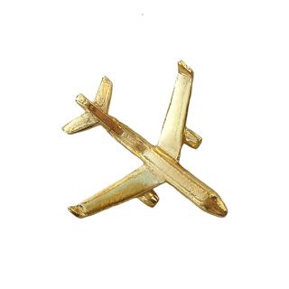 mht032 リトアニア Make Heads Turn おしゃれなピンバッジ ピンズ エナメルピン 金の飛行機