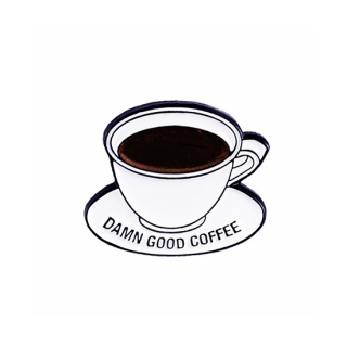 mht033 リトアニア Make Heads Turn おしゃれなピンバッジ ピンズ エナメルピン コーヒー