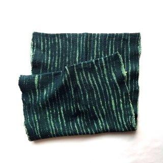 afs005 リトアニア 手づくりのフェルトスヌード メリノウール×コットン 深いグリーンの色合い