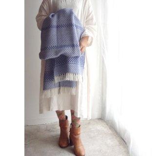 リトアニア Audejaの手織りウール 美しく鮮やかな色合いの大判ストール