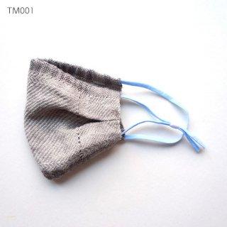 手織りリネンマスク 暖かみのあるマスク マスクカバーとしても ナチュラルリネンタイプ TM001-008