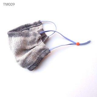 手織りリネンマスク 暖かみのあるマスク マスクカバーとしても ナチュラルリネンタイプ TM009-015
