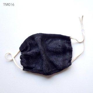 手織りリネンマスク 暖かみのあるマスク マスクカバーとしても ダーツなしふんわりタイプ TM016-018