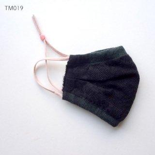 手織りリネンマスク 暖かみのあるマスク マスクカバーとしても 濃色リネン 内布のついたタイプ TM019-024