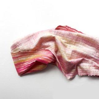 afs015 リトアニア 手づくりのフェルトスヌード ピュアシルク×メリノウール 明るいピンク系の色合い