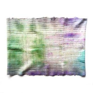 afs016 リトアニア 手づくりのフェルトスヌード ピュアシルク×メリノウール 春の草原を思わせるような美しい色合い