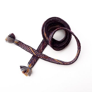 リトアニア 手織りベルト イエローやブルーに焦茶の縁取り