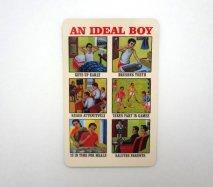 ドイツからきた小さなマグネット インドの子供向け教育ポスター「理想的な少年」