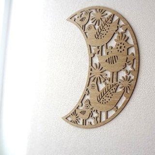 リトアニア EtnoDesign 木製オーナメント  さえずるお月さま 29cm