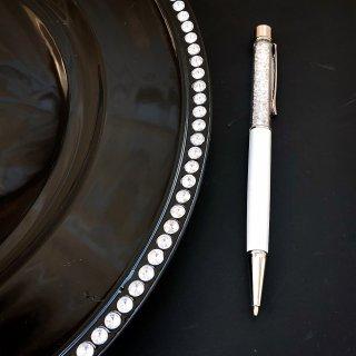 ホワイトキラキラボールペン