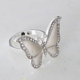 ホワイトバタフライ(蝶)ナプキンリング