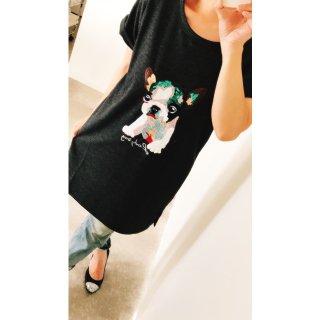 SALE30%OFF  ボストンテリアスパンコールTシャツ