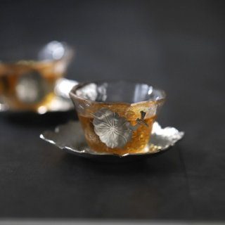 錫ガラス小鉢