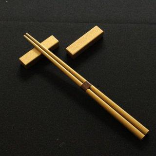 シンプルシルバー・ゴールド塗箸置 2個セット