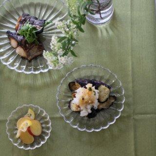 菊花ガラス皿