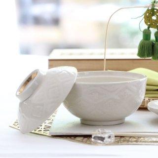 花菱紋様蓋付き小煮物碗