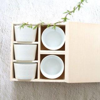 白磁小鉢五個組