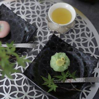 黒結晶正角皿