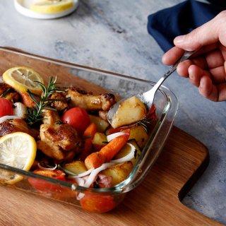 耐熱レクタンブルオーブン皿
