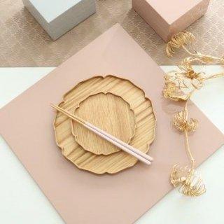 towan 木製皿 花