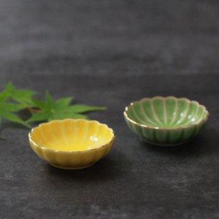 ミニ珍味皿 菊型渕金