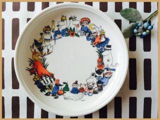 ムーミンチルドレンプレート(1990-1994年)/ヴィンテージ/【送料無料】